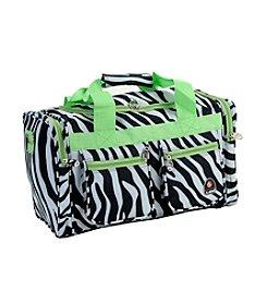 "Rockland 19"" Lime Zebra Tote Bag"