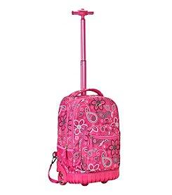 "Rockland 19"" Bandana Rolling Backpack"