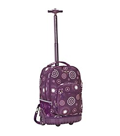 """Rockland 19"""" Purple Pearl Rolling Backpack"""