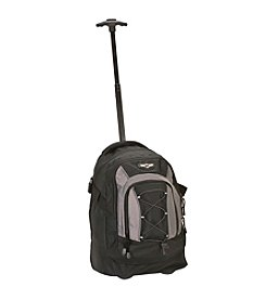 "Rockland 19"" Black Rolling Backpack"