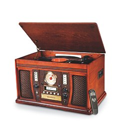 Innovative Technology The Aviator 5-in-1 Wooden Music Center