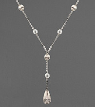 Sterling Silver and Crystal Station Necklace
