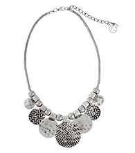 Erica Lyons® Short Disks Front Necklace