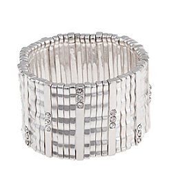 Erica Lyons® Silvertone Stretch Bracelet