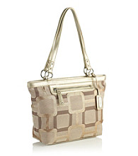 Nine West® Vegas Signs Small Shopper - Khaki/Metallic Gold