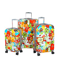 Blossom Aqua Expandable Luggage Collection