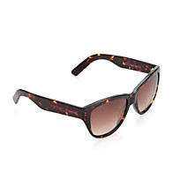 Betsey Johnson® Plastic Sculptured Cat Eye Sunglasses - Tortoise