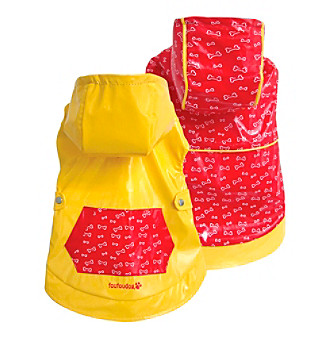FouFou Dog™ Yellow & Red Reversible Raincoat