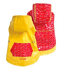 FouFou Dog™ Yellow & Red Reversible Raincoat