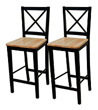 TMS Set of 2 Virginia Cross Back Stools