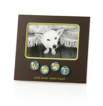"New View ""Woof"" Bubble Tile Sentiment 4x6"" Picture Frame"