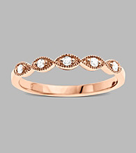 10K Rose Gold and .10 ct. t.w. Diamond Ring
