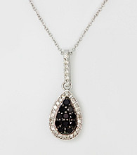 Effy® .40 ct. t.w. Black and White Diamond 14K White Gold Pendant