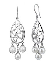 Precious Moments® .10 ct. t.w. Diamond and Sterling Silver Dangling Earrings