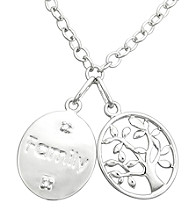 Precious Moments® .01 ct. t.w. Diamond and Sterling Silver Family Pendant