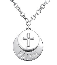 .005 ct. t.w. Diamond and Sterling Silver Faith Pendant