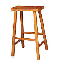 International Concepts Saddle Seat Wood Stool