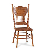 International Concepts Double Pressback Medium Oak Wood Side Chair