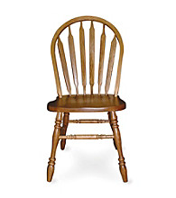 International Concepts Medium Oak Arrowback Wood Side Chair