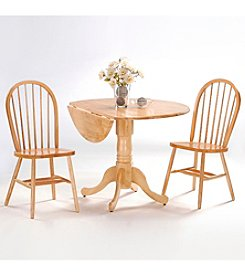 International Concepts 3-pc. Wood Dual Drop Leaf Dining Set