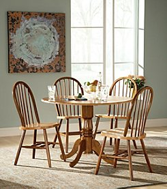 International Concepts 5-pc. Cinnamon & Espresso Wood Dual Drop Leaf Dining Set