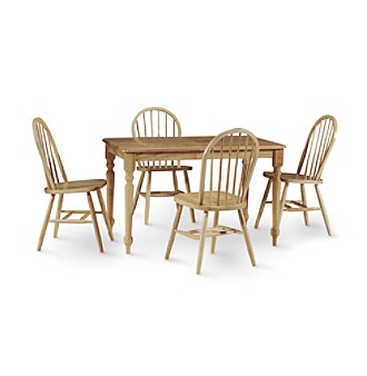 International Concepts 5-pc. Natural Wood Dining Set