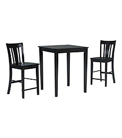 International Concepts San Remo 3-pc. Counter Height Dining Set