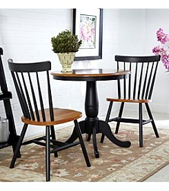 International Concepts Black & Cherry 3-pc. Round Dining Set