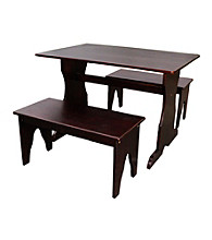 International Concepts Kid's Wood Table with 2 Benches