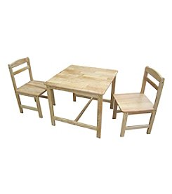 International Concepts 3-pc. Kid's Table & Chair Set