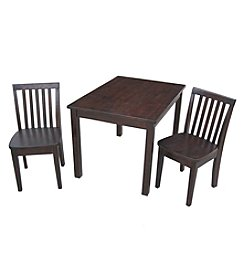 International Concepts 3-pc. Kid's Table & Mission Chair Set