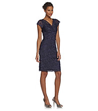 Marina Beaded Stretch Lace Multi-Tier Dress