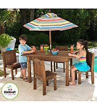 KidKraft Outdoor Espresso Table & Stacking Chair Set