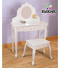 KidKraft Medium Diva Vanity Table & Stool