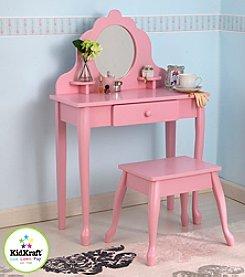 KidKraft Pink Medium Vanity & Stool