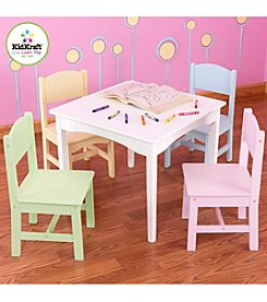KidKraft Nantucket Table & Pastel Chair Set