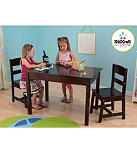 KidKraft Espresso Rectangle Table & Chair Set