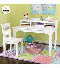 KidKraft Avalon White Desk with Hutch