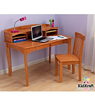 KidKraft Avalon Honey Desk with Hutch