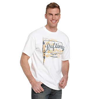 Ruff Hewn Men's White Graphic Tee
