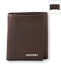 Fossil® Men's Evans Zip Leather Trifold Wallet