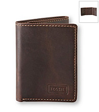 Fossil® Men's Brown Sam Trifold Wallet