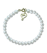 Precious Moments® Pearl and Sterling Silver Heart Bracelet
