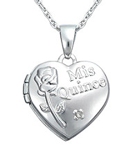 Precious Moments® .005 ct. t.w. Diamond and Sterling Silver Heart