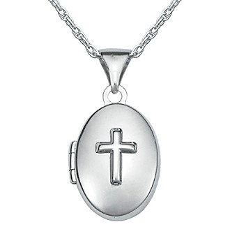 Precious Moments® Sterling Silver Cross Locket