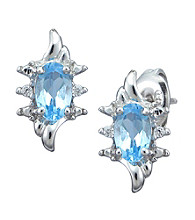 Precious Moments Sterling Silver Birthstone Collection Earrings
