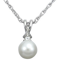 Precious Moments Sterling Silver Birthstone Collection Pendant- Pearl