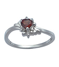 Precious Moments Sterling Silver Birthstone Collection Ring- Garnet