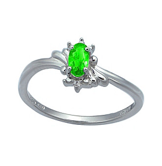 Precious Moments Sterling Silver Birthstone Collection Ring - Peridot