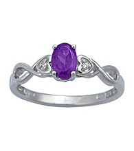 Precious Moments Sterling Silver Birthstone Collection Ring - Amethyst
